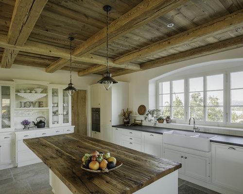 landhausstil k chen mit granit arbeitsplatte ideen design bilder houzz. Black Bedroom Furniture Sets. Home Design Ideas