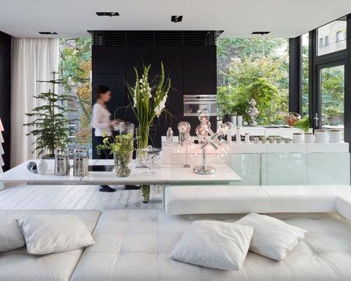 Moderne Kücheninsel moderne küchen mit schwarzen schränken ideen design bilder houzz