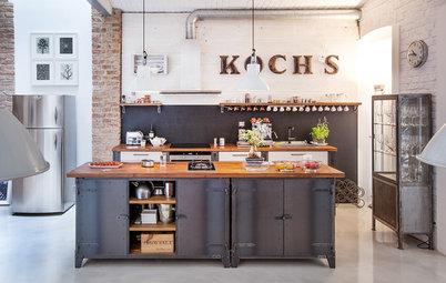 Wiener Schmankerl: Eine coole Wohnküche im Souterrain