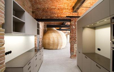 Houzzbesuch: Ein Kokon aus Holz in einem Berliner Industrieloft
