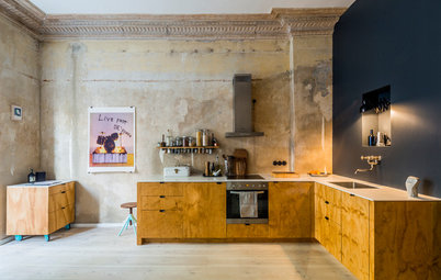 Exposed Plaster Becomes the Hero of This Flat's Design
