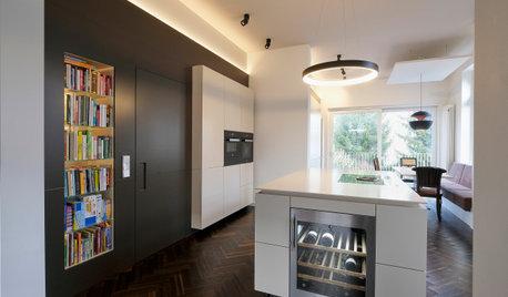 Zeitlos schöne Küche in Weiß & Braun