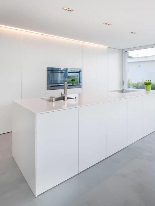 Küchen mit Mineralwerkstoff-Arbeitsplatte Ideen, Design & Bilder | Houzz