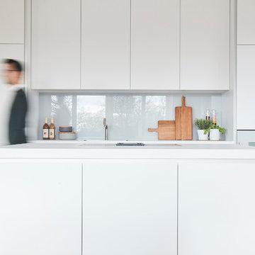 Minimalistische Bulthaup B1 als elegante Wohnküche