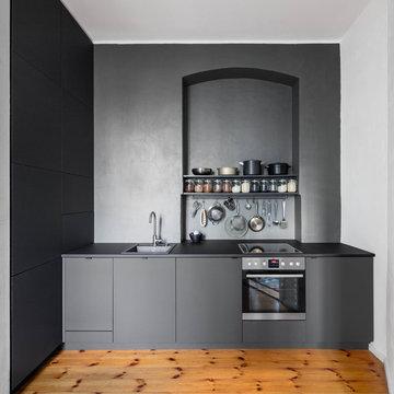 Minimalistische Küche für eine berliner Altbauwohnung