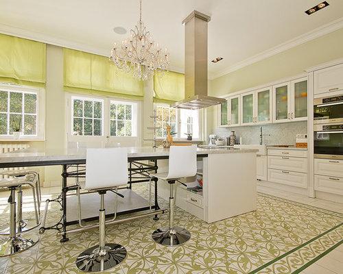 Küchen mit profilierten schrankfronten und kücheninsel ideen ...