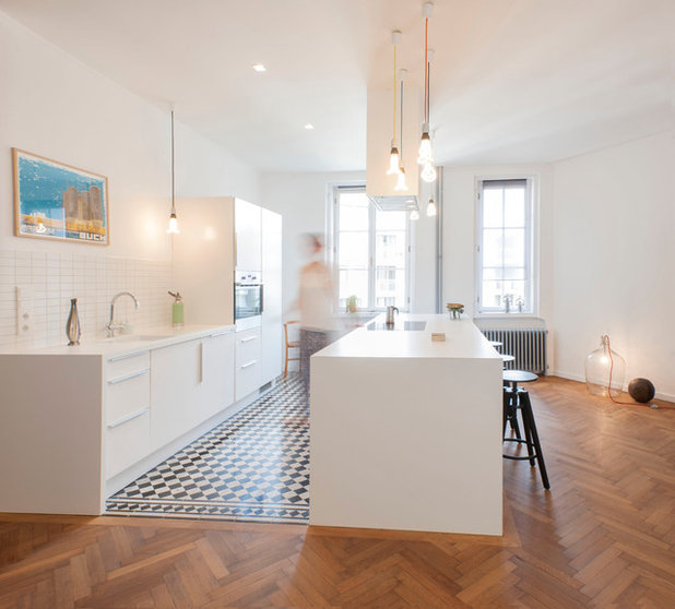 Comment r ussir la transition entre du parquet et des carreaux - Cuisine point p ...