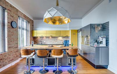 Visite Privée : Un incroyable appartement mêle couleurs et matériaux