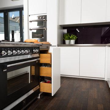 Moderne Vollholzküche