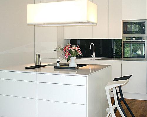 moderne wei e k che. Black Bedroom Furniture Sets. Home Design Ideas