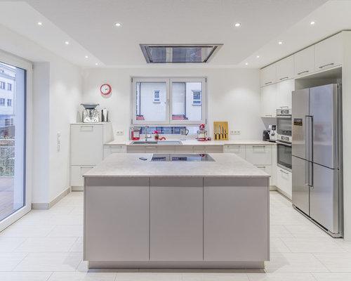 Küchen mit laminat arbeitsplatte und kücheninsel ideen & bilder ...