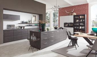 Musterring Küche | MR1000 | Farben: Cortina Eiche schwarz / Platingrau