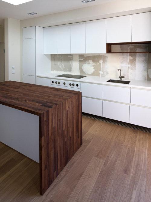 k che mit r ckwand aus metallfliesen deutschland ideen bilder. Black Bedroom Furniture Sets. Home Design Ideas