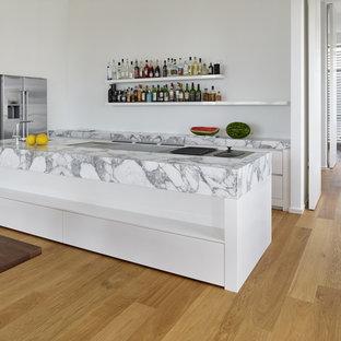 Kuchen Mit Marmor Arbeitsplatte Ideen Design Bilder Houzz