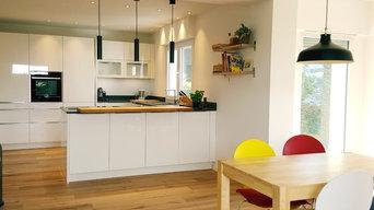 offene Küche mit Essbereich