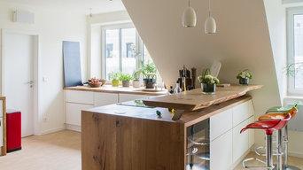 Offene Küchen mit Tresen