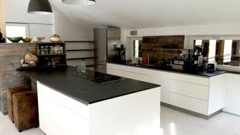 Offene Wohnküche mit Loftcharakter