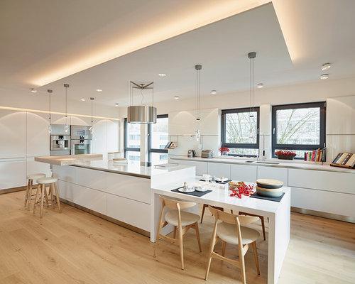 Moderne Wohnküchen moderne wohnküchen mit unterbauwaschbecken ideen bilder