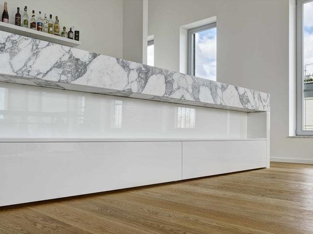 Houzzbesuch: Minimalismus trifft Marmor in einem Frankfurter Penthouse