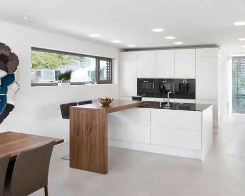 Küchen mit schwarzer Küchenrückwand und Halbinsel Ideen & Bilder | {Moderne küchen mit halbinsel 66}