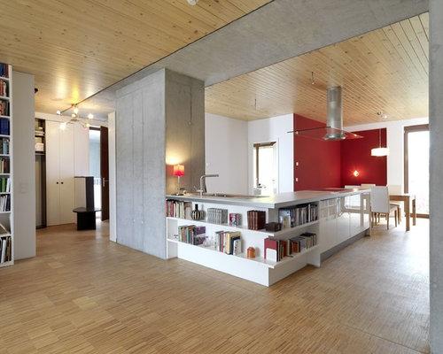 Küchen in L-Form mit Halbinsel Ideen & Bilder | {Moderne küchen mit halbinsel 73}