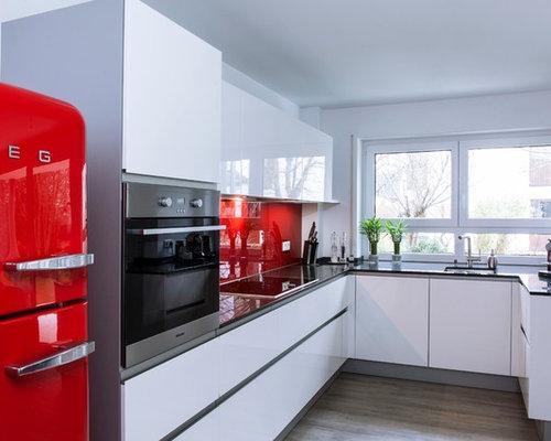 Küchen mit Küchenrückwand in Rot Ideen, Design & Bilder | Houzz