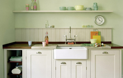 Seeing Green: Some Kitchens Ditch White for Mother Nature's Neutral