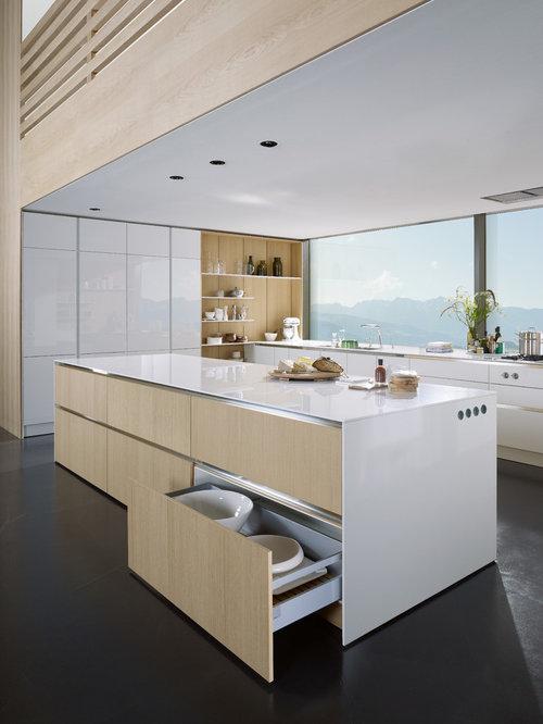 Küche mit Edelstahl-Arbeitsplatte - Ideen & Bilder | {Edelstahl arbeitsplatte küche 10}