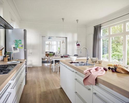 Skandinavische Küchen offene skandinavische küchen ideen design bilder houzz