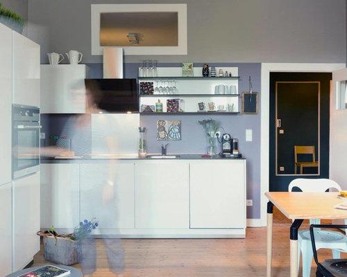 küchen mit küchenrückwand in metallic ideen design bilder