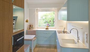 Stylische Küche im angesagten Retro-Design