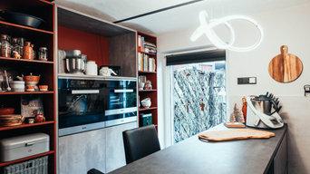 Taupefarbene Küche