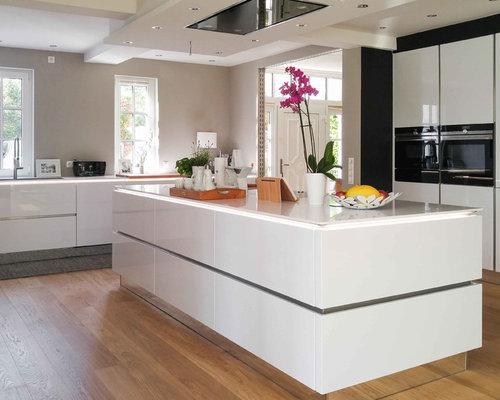 Silestone Arbeitsplatte grifflose küche mit 12mm silestone arbeitsplatte
