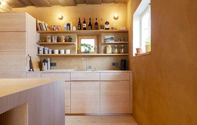 Eine bayerische Wohnküche aus Douglasienholz