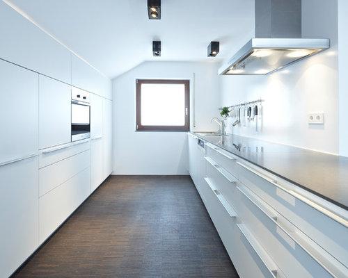 zweizeilige, geschlossene küchen ideen & bilder - Küche Zweizeilig