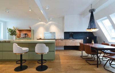 Zündende Idee: In dieser renovierten Wohnküche lodert Feuer