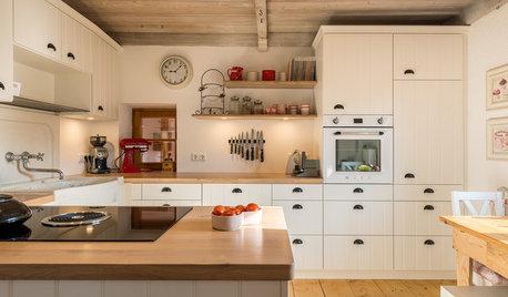 5 Küchen in Weiß- und Cremetönen im Detail