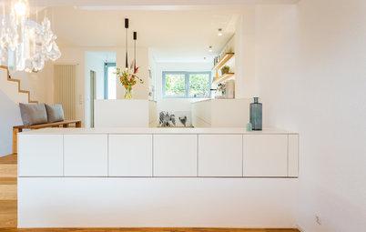 Wände raus! Ein Reihenhaus gewinnt durch eine helle, offene Küche