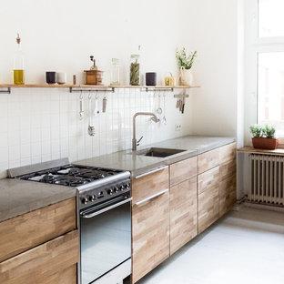 Kuchen Mit Hellbraunen Holzschranken Ideen Design Bilder Houzz