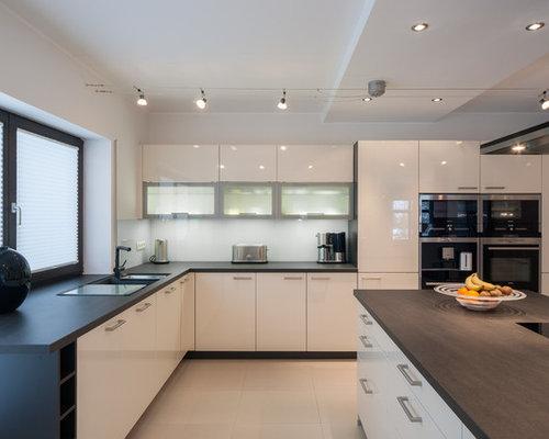 Küchen mit Halbinsel und Doppelwaschbecken Ideen & Bilder | {Moderne küchen mit halbinsel 54}