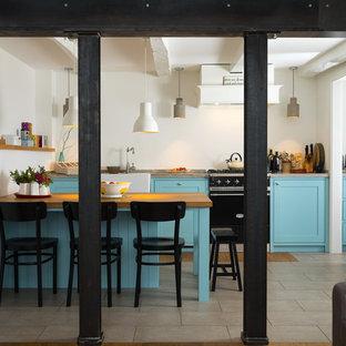 kuchenherd im landhausstil design ideen holz, mittelgroße landhausstil küchen ideen, design & bilder | houzz, Design ideen