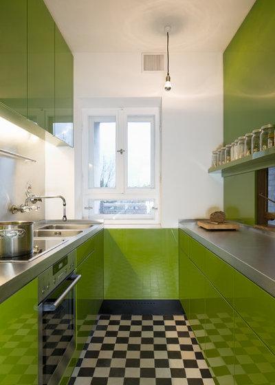 10 id es d co pour optimiser une cuisine lin aire for Petite cuisine en longueur