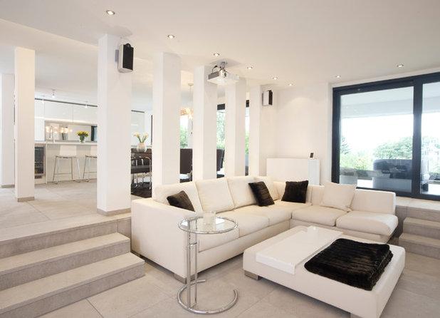 Contemporary Family Room by Strobl die Küchenwerkstatt