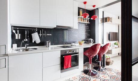 Houzz тур: Крошечная студия с кухней в коридоре