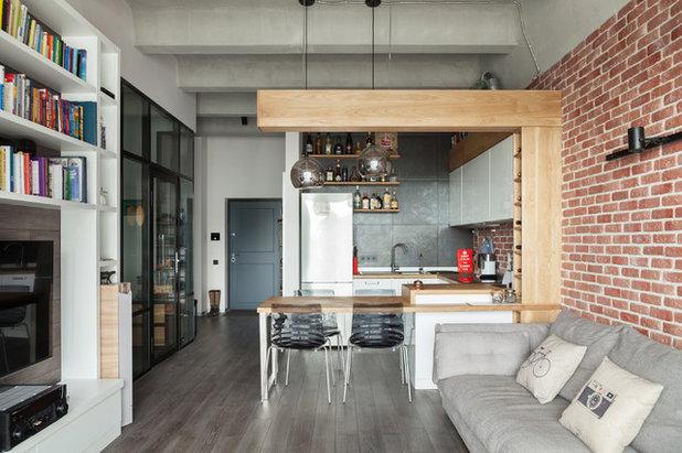 phototh que 51 cuisines industrielles pleines de caract re. Black Bedroom Furniture Sets. Home Design Ideas