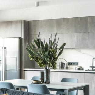 Einzeilige Küchen mit Arbeitsplatte aus Fliesen Ideen ...
