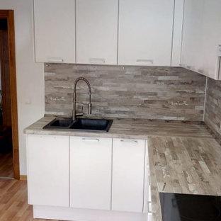 Белая кухня сканди угловая
