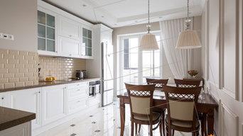 Белоснежная кухня в стиле Классика