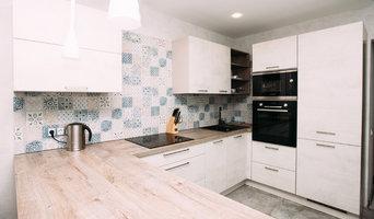 Белый бетон - Дуб Хафельланд