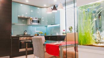 """Большая кухня в """"маленькой"""" квартире."""